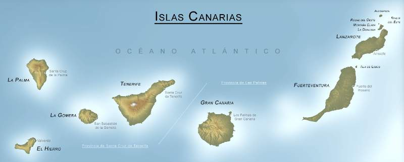 cartina isole canarie
